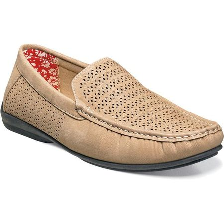 Stacy Adams Casual Slip On Shoes Beige Cicero 25172-260 IS