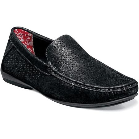 Stacy Adams Casual Slip On Shoes Black Cicero 25172-001 IS - click to enlarge