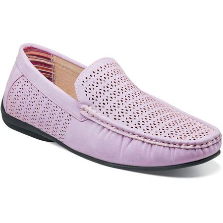 Stacy Adams Casual Slip On Shoes Lavender Cicero 25172-530 IS - click to enlarge