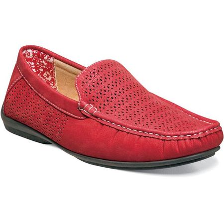 Stacy Adams Casual Slip On Shoes Red Cicero 25172-600 IS - click to enlarge