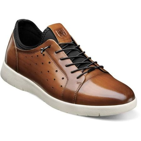 Stacy Adams Cognac Leather Casual Fashion Sneaker 25382-221 - click to enlarge