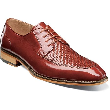Stacy Adams Cognac Woven Top Leather Dress Shoes 25242-221