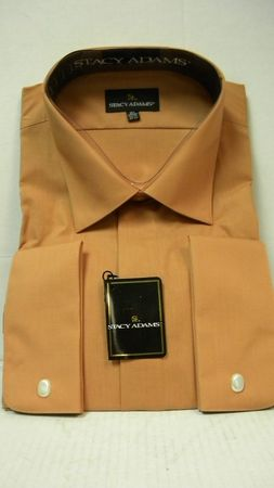 Stacy Adams Copper French Cuff Shirt 39018 Size 18.5