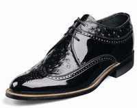 Stacy Adams Dayton Black Wingtip 1920s Dress Shoes 00375-01