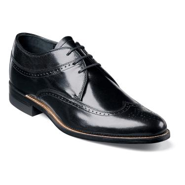 Stacy Adams Dayton Black Wingtip 1920s Style Dress Shoes 00327-01