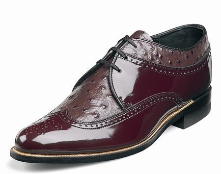 Stacy Adams Dayton Burgundy Wingtip 1920s Style Dress Shoes 00375-05