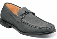 Stacy Adams Gray Suede Loafers Moc Toe Neville 25224-061
