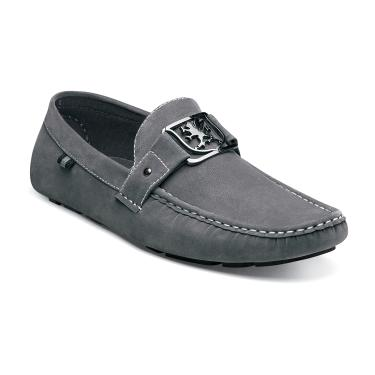 Stacy Adams Gray Suede Moccasin Driving Shoes Veda 24870-020 IS