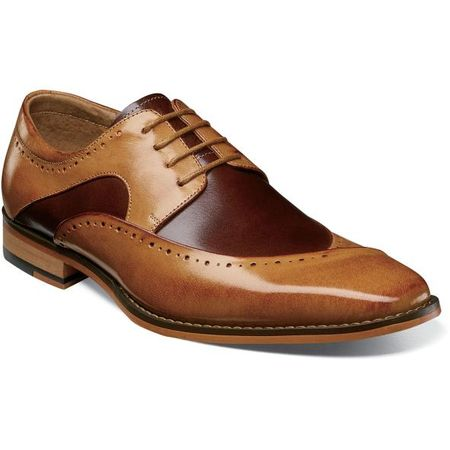 Stacy Adams Men's Shoes Tan Burgundy Top 25292-238 IS