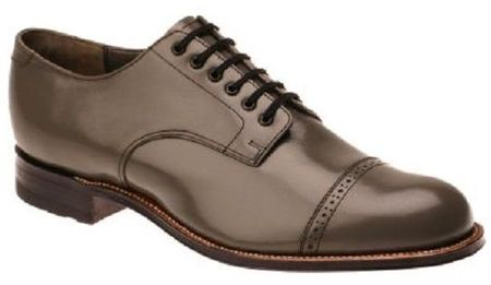 Stacy Adams Madison Mens Gray Leather Dress Shoes 00012-10 Size 12EE Final Sale - click to enlarge