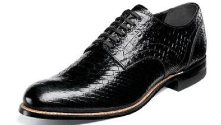 Stacy Adams Madison Mens Black Snakeskin Print Shoes 00055-001  Size 11 Final Sale