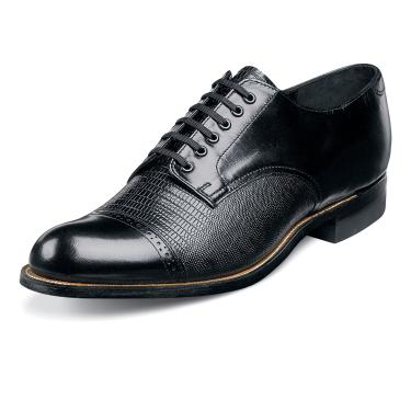 Stacy Adams Madison Mens Black Lizard   Leather Dress Shoes 00049-01