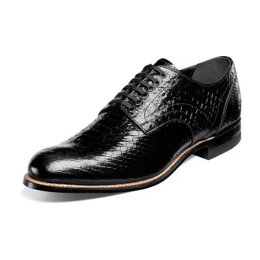 Stacy Adams Madison Mens Black Snakeskin Print Shoes 00055-001