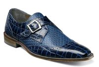 Stacy Adams Mens Shoes Blue Texture Side Buckle 25084-400 OS Size 14 Final Sale
