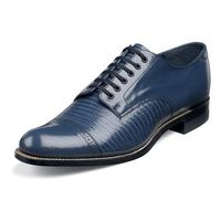Stacy Adams Madison Mens Vintage Style Blue Lizard Print Shoes 00049-53 IS