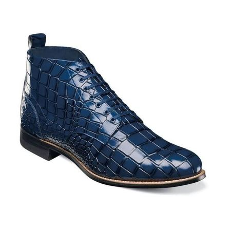 Stacy Adams Boots Men's Blue Alligator Print Madison 00106-400