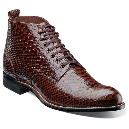 Stacy Adams Madisons Men's Brown Python Motif Boots 00057-200 - click to enlarge