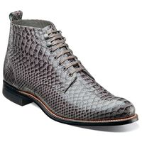 Stacy Adams Madison 1920s Mens Gray Snake Print Boots 00057-011