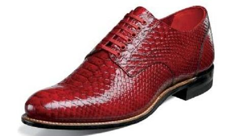 Stacy Adams Classic Madison Mens Red Python Print Shoes 00055-600 Size 10 Final Sale
