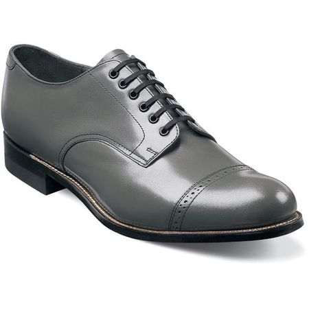 Stacy Adams Madison Mens Gray  Leather Dress Shoes 00012-10