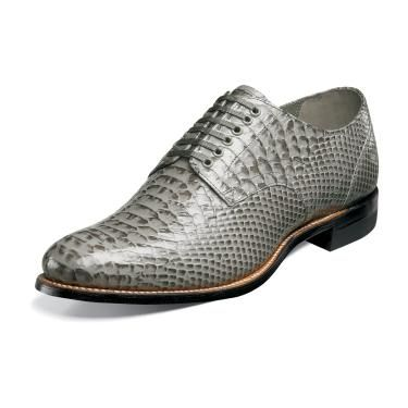 Stacy Adams New Madison Men's Gray Snake Motif Shoes 00055-020