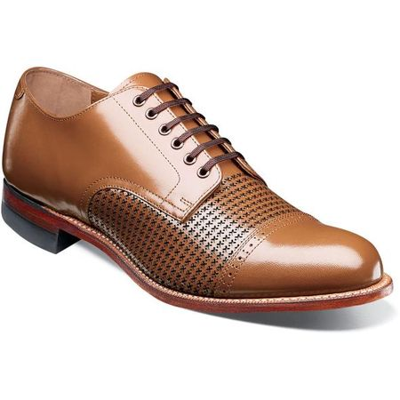 Stacy Adams Madison Shoes Tan Texture Oxford 00905-224
