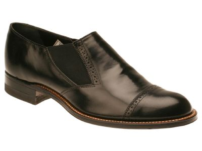 Stacy Adams Madison Mens Black  Leather Slip On Shoes 00017-01