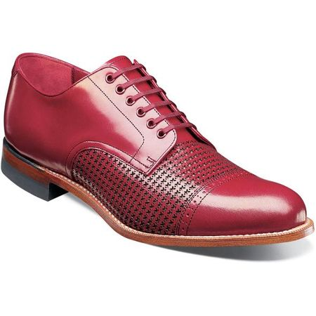 Stacy Adams Madison Shoes Red Texture Oxford 00905-600