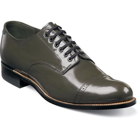 Stacy Adams Madison Mens Olive Green  1920s Style Shoes 00012-04 - click to enlarge