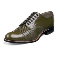 Stacy Adams Mens Olive Lizard Texture Leather Retro Style Shoes Madison 00049-04