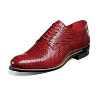 Stacy Adams Classic Madison Mens Red Python Print Shoes 00055-600