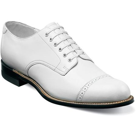 Stacy Adams Madison Mens White  Leather Dress Shoes 00012-07