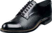 Stacy Adams Madison Mens Black Lizard Leather Dress Shoes 00049-01 Size 12 Final Sale