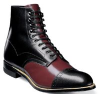 Stacy Adams Men's Burgundy Black Two Color Retro Madison Boots 00015-641