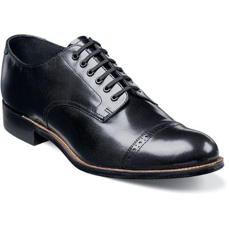 Stacy Adams Madison Shoes Original Mens Black Leather Shoe  00012-01  - click to enlarge