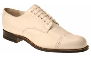 Stacy Adams Madison White Shoes 00012-07 Size 10.5 Final Sale