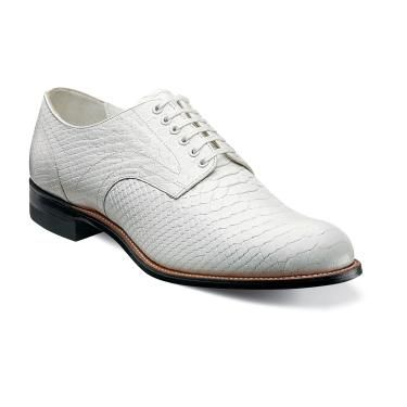 Stacy Adams Madison Modern White Snake Texture Shoes 00055-100
