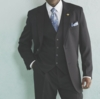 Stacy Adams Mens Big and Tall 3 Piece Dress Suit Suny 4016