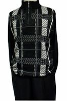 Stacy Adams Mens Black Fancy Sweater and Pants Set 8330
