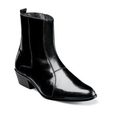 Stacy Adams Mens Black Leather Boots Santos 24855-001 OS