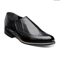 Stacy Adams Mens Black Dayton Wingtip Loafer 00622-001
