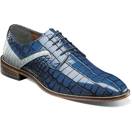 Stacy Adams Blue Alligator Texture Dress Shoes 25211-460 OS