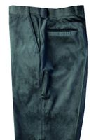 Blu Martini Mens Green Velvet Pants Flat Front 5060