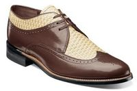 Stacy Adams Dayton Mustard Multi Woven Wingtip Shoes 00624-249