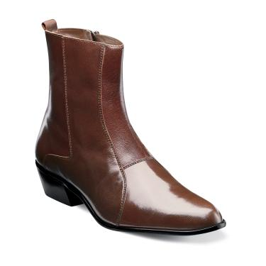 Stacy Adams Mens Brown Leather Boots Santos 24855-221 OS