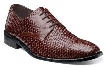 Stacy Adams Mens Shoes Cognac Leather Weave Sanfillipo 24938-221 IS