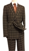 Stacy Adams Men's Brown Rust Square Double Breasted Suit Sam 5916-708 IS