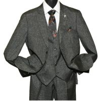 Stacy Adams Mens Brown Fine Plaid 3 Piece Suit Sky Vest 5734-104 Size 52L Final Sale