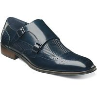 Stacy Adams Shoes Mens Blue Woven Double Monk Strap 25239-410
