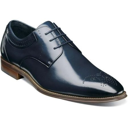 Stacy Adams Shoes Blue Plain Toe Oxford 25346-403